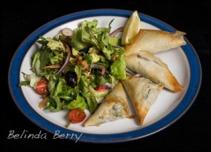 Spanakopitta and Salad