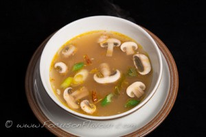 Hot and Sour Chicken and Mushroom Soup