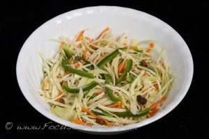 Cabbage, Green Pepper and Caraway Salad