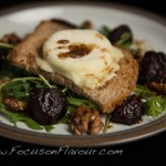 Baked baby Beetroot with Spiced Walnuts and Goats Cheese