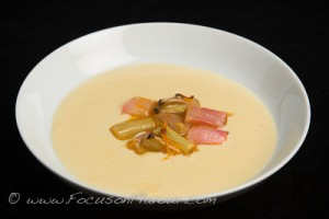 Rhubarb Compote with Cardamom Custard