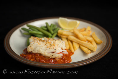 Cod with Tomato and Chorizo