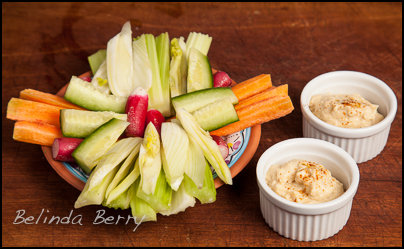 Low fat Hummus and Crudités