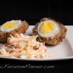 Scotch Eggs with Light Coleslaw