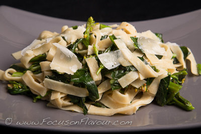 Wholewheat Tagliatelle with Tenderstem Broccoli and Chilli