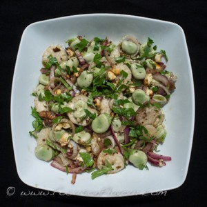 Broad Bean and Walnut Salad