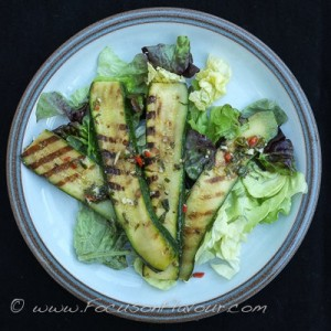 Griddled Courgette Salad