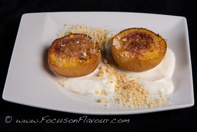 Baked Stuffed Peaches