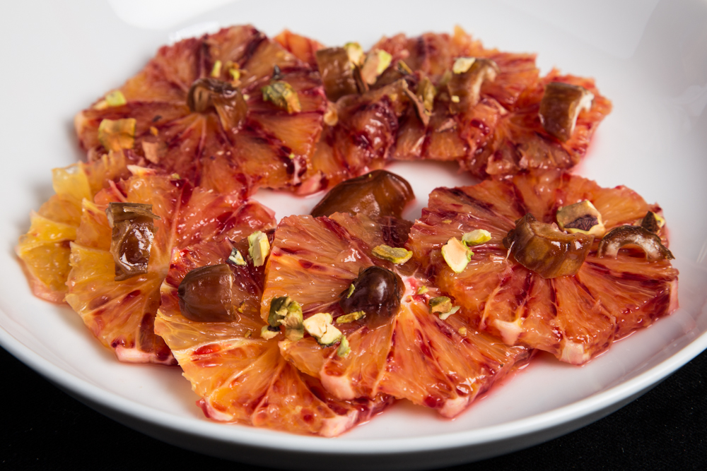 Blood Orange with Pistachios