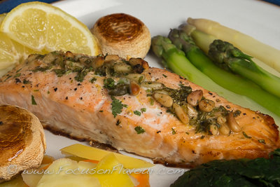 Salmon Stuffed with Pine Nuts and Herbs
