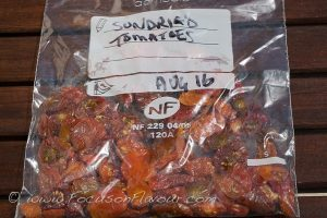 Sundried tomatoes for the freezer