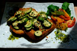 Courgette with herbs and lemon