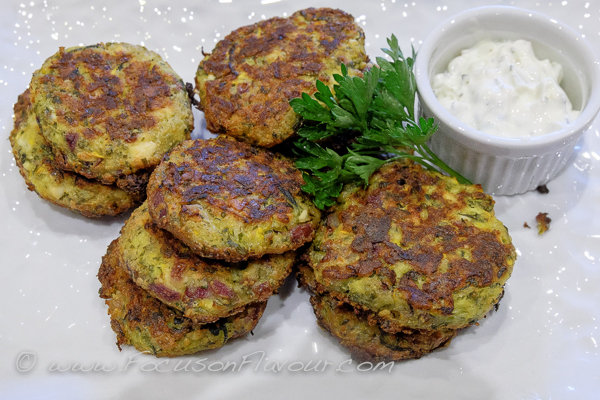 fried courgette patties