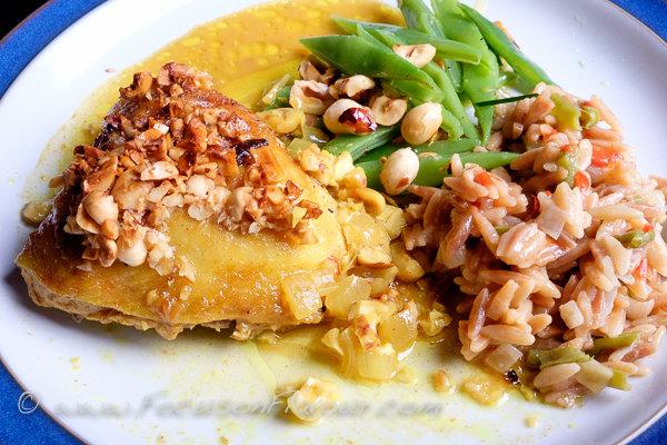 Roast Chicken with Turmeric, Hazelnuts and Honey
