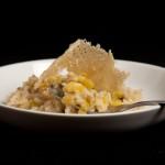 Leek Risotto with Parmesan Crisps