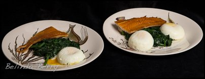 Smoked Haddock with Poached Egg and wilted Spinach