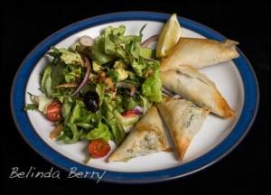 Spanakopitta and Salad