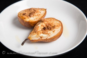 Pear with Amaretti Crumble