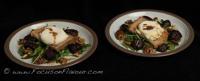 Goats Cheese Toasts with Baked Beetroot and Spiced Walnuts