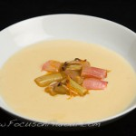 Rhubarb Compote with Cardamom Custard