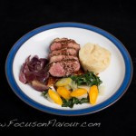 Sticky Marmalade Duck with Celeriac Mash and Red Onion Confit