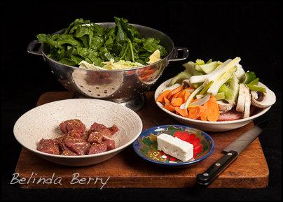 Lean Lamb Stir-Fry with Feta
