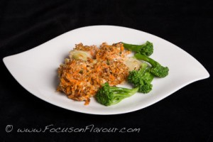 Leek and Crunchy Carrot Gratin