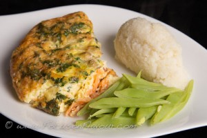 Crustless Asparagus and Smoked Salmon Quiche