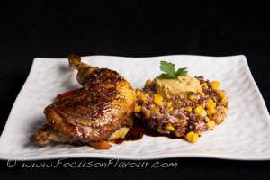 Sticky Chicken with Rice and Sweetcorn
