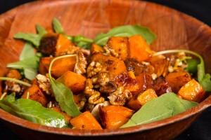 Roast Pumpkin and Glazed Walnut Salad