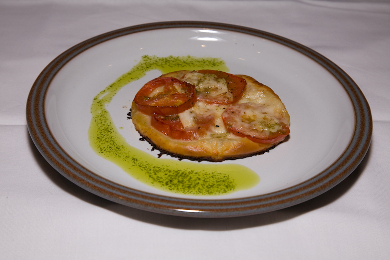 Tomato and Feta Tartlets with Basil Oil