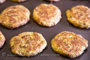baked courgette patties