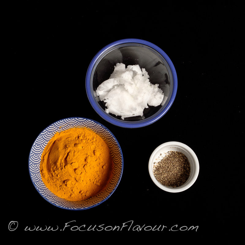 ingredients for golden paste
