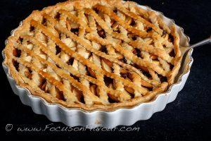 Lattice-topped tart
